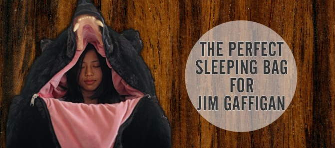 Fool the Bears: Sleeping Bag perfect for Jim Gaffigan Camping Sketch