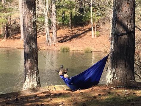 Kickin it in a hammock