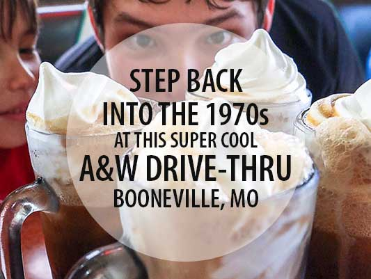 Booneville MO | Authentic Vintage A&W and Frothy Frosty Root Beers