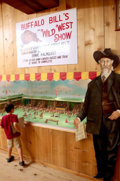 Our 5-year-old checks out a diorama of Buffalo Bill's Show in North Platte, Nebraska